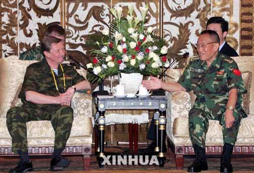 国防部长曹刚川会见俄罗斯国防部长伊万诺夫(图)