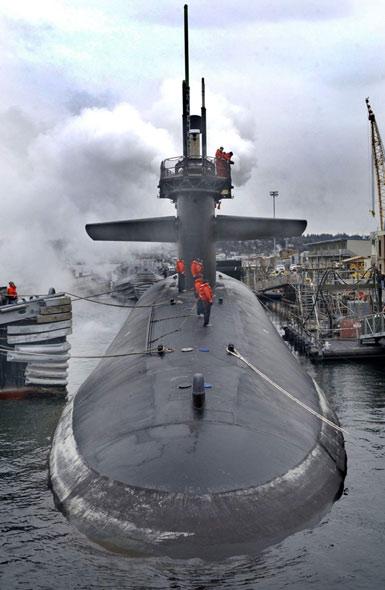 美国最先进战略核潜艇秘密部署亚太(附图)