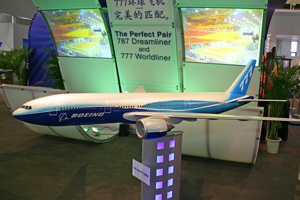 图文:波音公司B777梦想客机模型