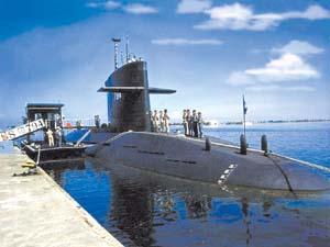 �x湾潜���[装�i对�a��击��RGM-84L��鱼�e导弹