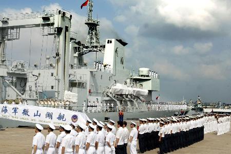 中国海军舰艇编队出访巴基斯坦印度泰国(图)