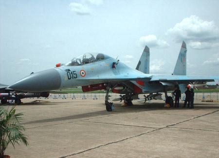 印美举行联合空战演习F-16首次对抗苏-30(图)