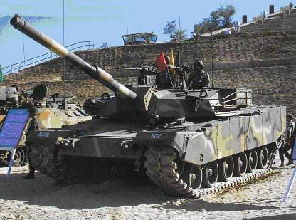韩国陆军K1系列主战坦克性能揭秘(组图)