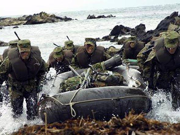 日本离岛防御特种部队赴美国演练夺岛战术(图)