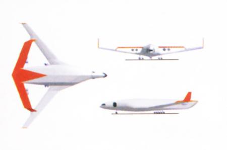 第一届专业组三等奖:900座商用客机设想(组图)