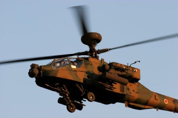 日本空中轻骑兵再挎东瀛刀:AH―64DJ首飞(图)