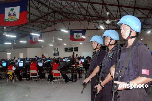 海地警察破坏选举被捕中国维和警察加强保卫