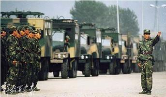 济南军区某通信团城区通信装备抗干扰演练(图)