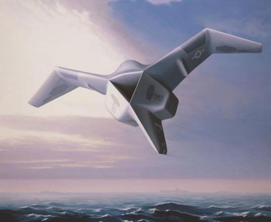 飞机的机翼在飞行中可以向前折叠起来