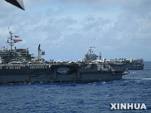 """美""""英勇盾牌-06""""军演提前一天在关岛展开"""