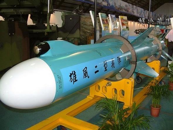 台军雄三型战术导弹将可攻击大陆二炮阵地(图)
