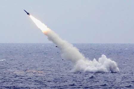 中俄军演中我军潜艇发射潜射导弹时出意外(图)