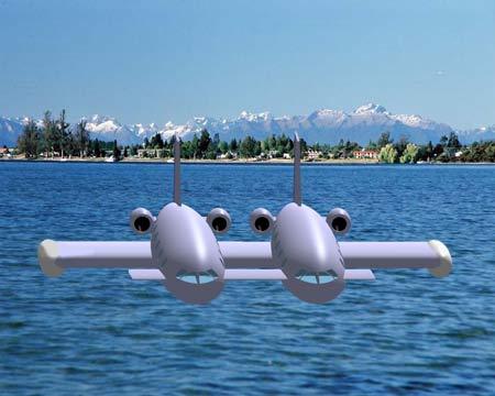水面飞行器设计图