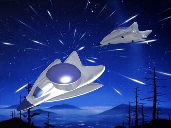 """作品:王雁之""""星空之旅""""未来旅游观光飞行器"""