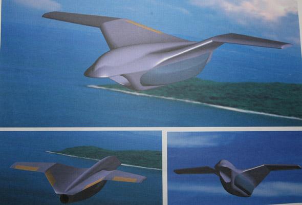 设计思路是采用类似于鸟类外形的仿生设计:以喷气发动机为中心布局图片