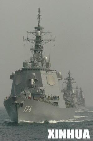 安倍晋三检阅海上自卫队将推动防卫厅升格(图)
