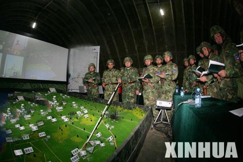 """""""前卫-206B""""军演首长机关定下战斗决心"""