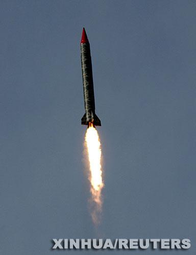 巴基斯坦试射可精确打击核导弹与印度较劲(图)