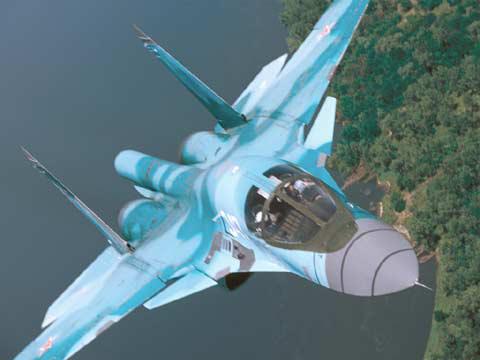 俄空军正式接收首批2架苏-34战斗轰炸机(图)