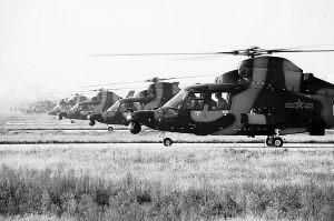 济南军区陆航特级飞行员驾机第15000次起飞