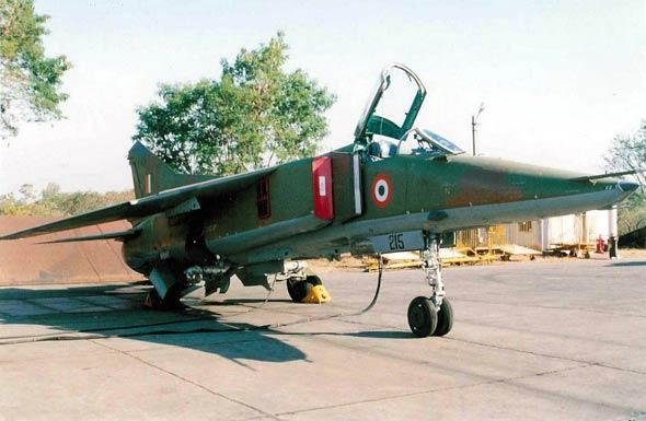 图文:印度空军装备的MIG-23BM战斗轰炸机