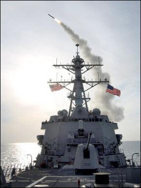 图文:MK-41垂直发射装置发射战斧巡航导弹
