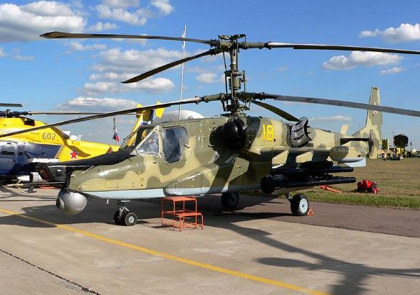 图文:卡莫夫设计局的卡-50武装直升机