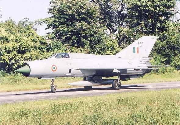 图文:印度空军装备的俄制米格-21比斯战斗机