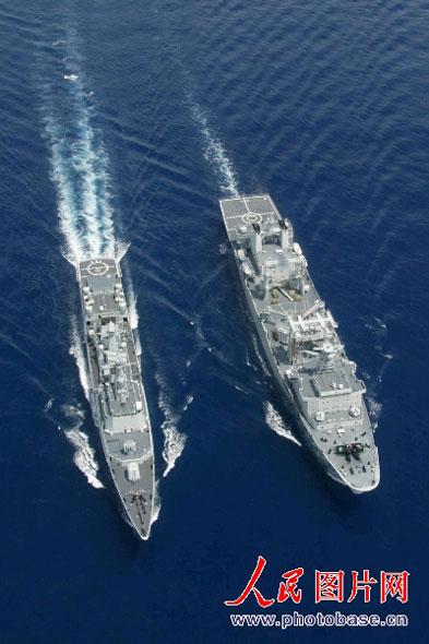 中国印度海军首次在印度洋举行联合军演(图)