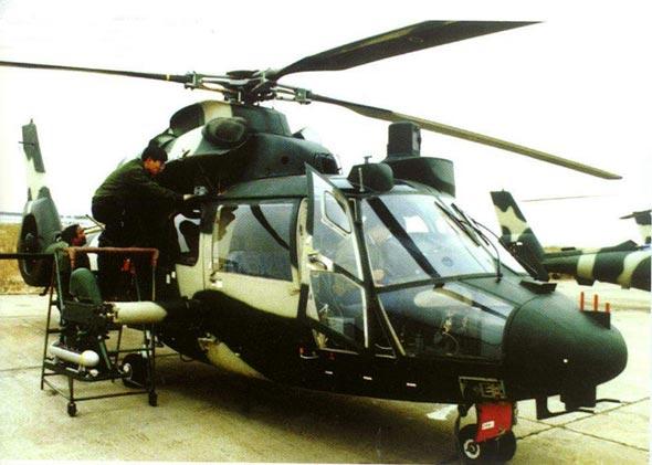 图文:加装新型观瞄系统的武直九型攻击直升机