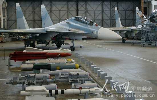 海空雄鹰团装备苏-30MK2型双座多用途战斗机