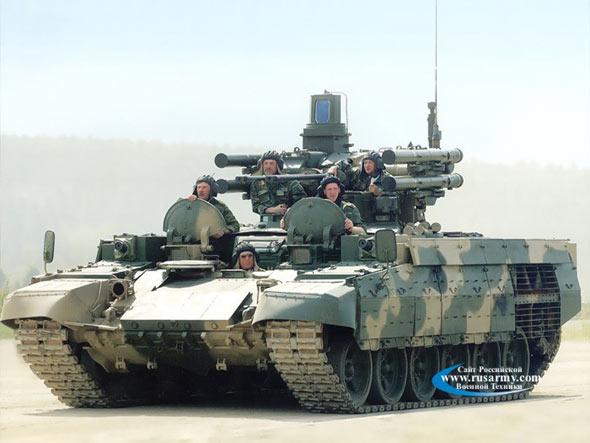 俄罗斯新推出的BMPT坦克支援车(附图)