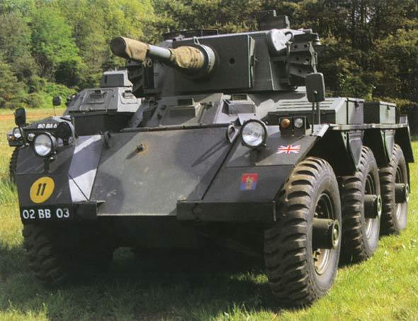 """图文:装有76毫米火炮的英国""""萨拉丁""""装甲车"""