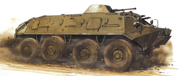 图文:俄罗斯1961年服役的BTR-60装甲车