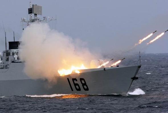 中国海军168广州号新型驱逐舰首次亮相(图)