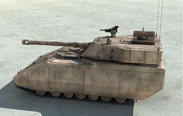 图文:美国陆军FCS乘车战斗系统