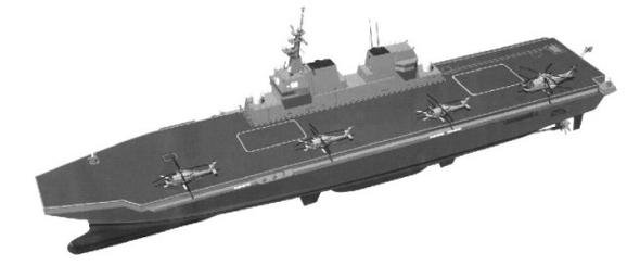 图文:日本的16DDH直升机航母电脑图
