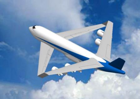 第一届专业组二等奖:翼身融合飞机(组图)