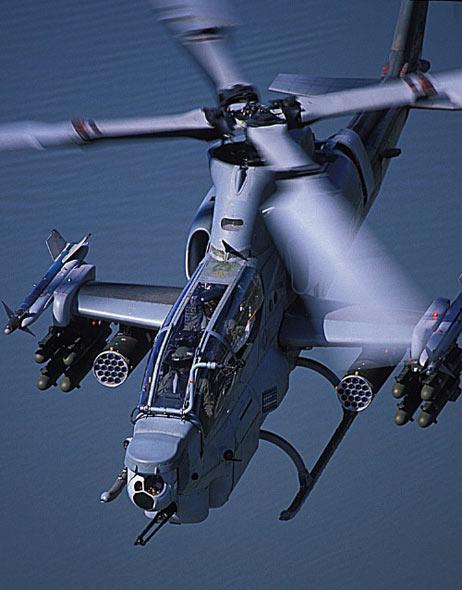 武器纵横:美制最新型AH-1Z攻击直升机揭秘(图)