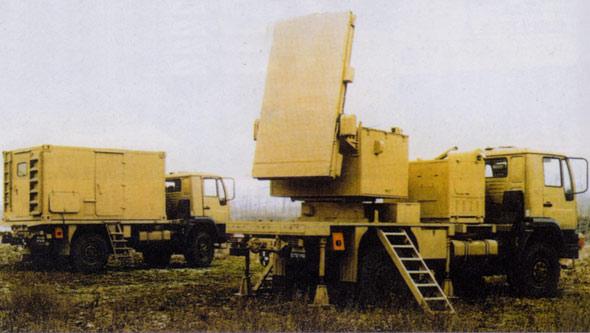 图文:704-1弹道定位雷达车