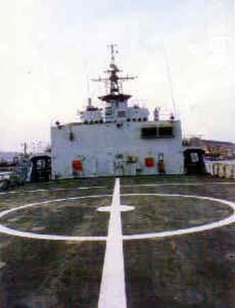 图文:891舰舰艉直升机平台