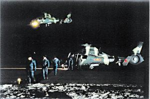 中国陆航新型武直年度夜航训练遇险情(组图)