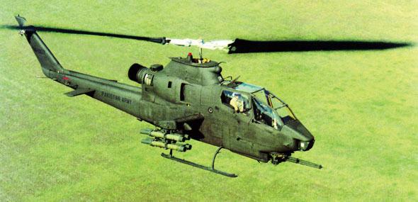 图文:日本陆航AH-1S攻击直升机