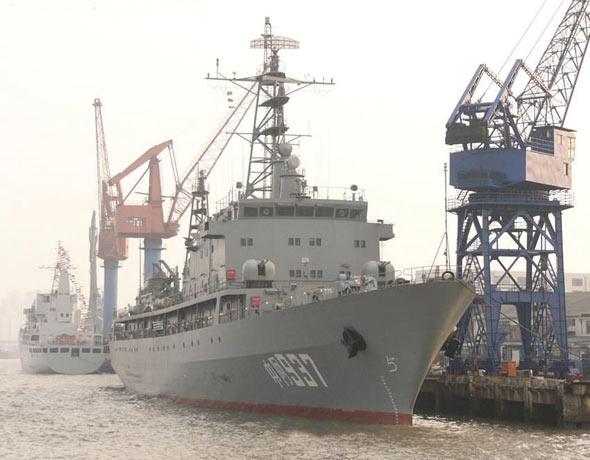 图文:中国为阿尔及利亚建造的训练舰