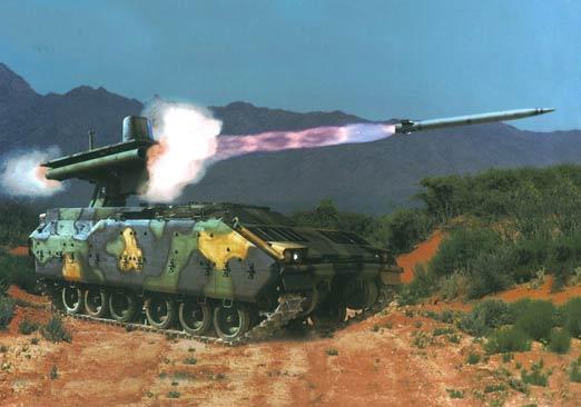 图文:M2战车底盘发射直瞄反坦克导弹
