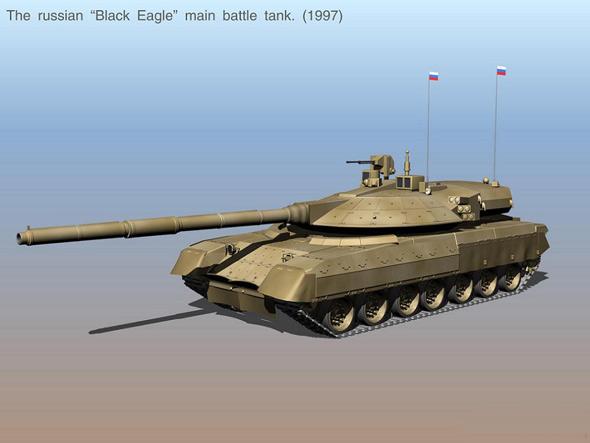 图文:俄罗斯黑鹰主战坦克3D效果图