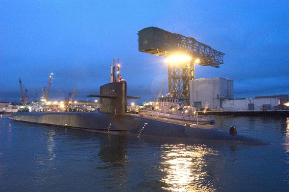 图文:美国海军SSGN-726号弹道导弹核潜艇