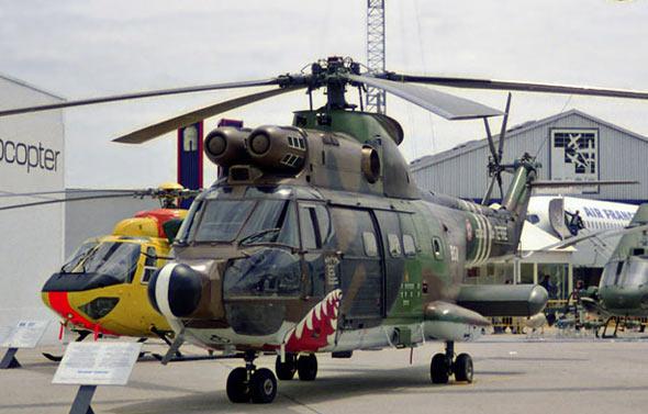 图文:法国陆航部队SA330美洲豹直升机