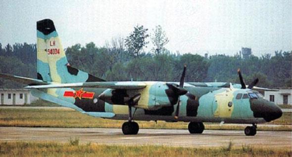 图文:中国空军现有几十架运八中型运输机