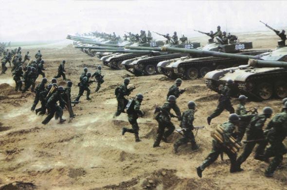 图文:步兵分队快速登车
